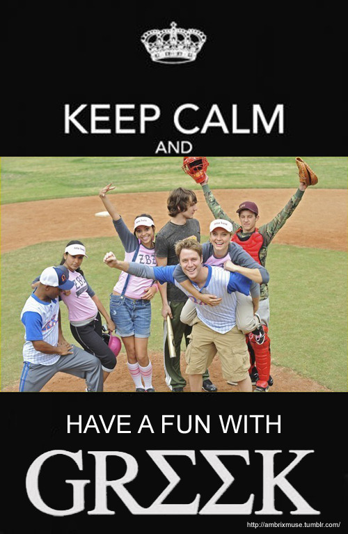 Keep calm and have a fun with Greek