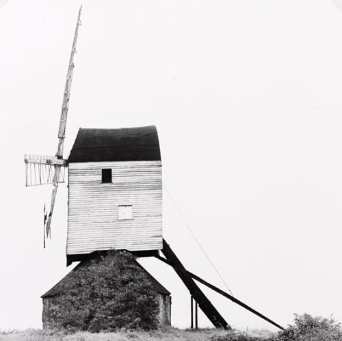 Post Mill, EssexEric de MareEssexunknownGelatin silver printMuseum no. PH.24-1984Post mills like this one once dotted the landscape of Essex and East Anglia. Their innovative design allowed the mill to be turned to face into the wind whenever the wind's direction changed. Eric de Mare, a trained architect and one of the most acclaimed architectural photographers in Britain, devoted much of his career to recording Britain's neglected industrial heritage. His photographs of bridges, factories, and warehouses demonstrated that functional design was not an invention of the twentieth century, but had a long and honourable tradition in British architecture.  @V&A Gallery/memory maps  part of their memory mapping collection of drawings and photography