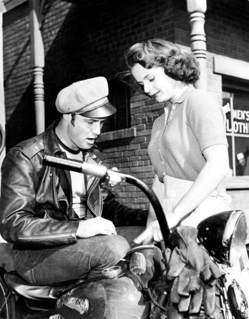 Marlon Brando and Mary Murphy in The Wild One.
