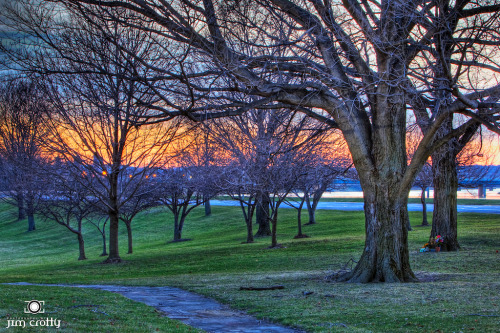 It won't be long. Sunset on March 21 2008 from Carillon Park #dayton #ohio