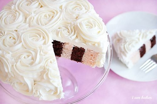 i am baker: vertical layer rose cake