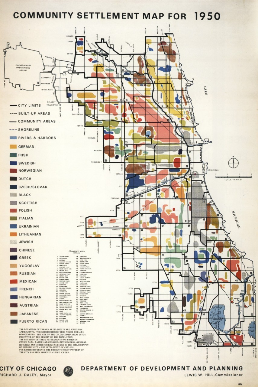 reginateng:  Chicago Demographics, 1950 City of Chicago Department of Planning and Development  its so beautiful