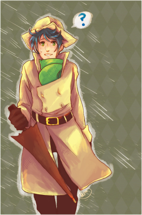 """Rain Days""  Done for an art trade. - Photoshop cs3 & paint tool SAI"