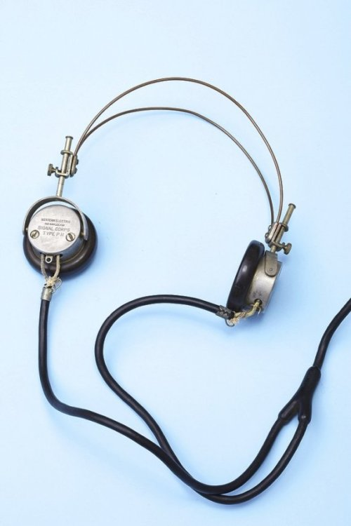 Vintage head phones Signal Corps 1940's by Luxorama on Etsy