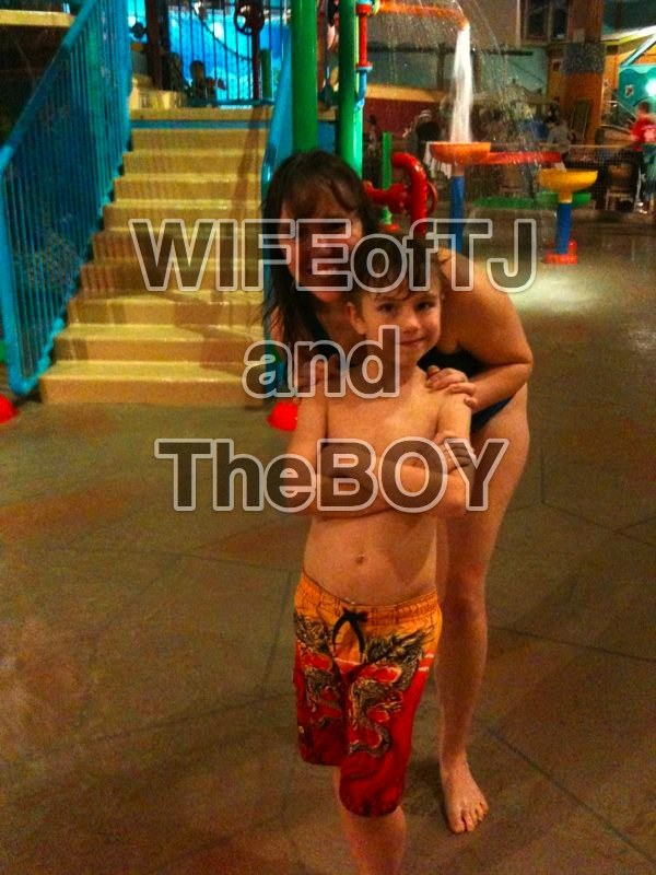 wifeoftj:  The Boy and I are having a blast at the watermark. I'd like to kiss whoever thought up the idea to build INDOOR watermarks - so much fun!