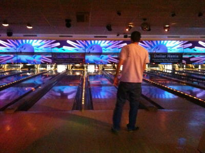 Bowling last night was so fun! Next time I decide to bowl at midnight I might actually break 100