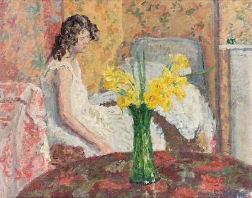 Spencer Frederick Gore Girl in a Bedroom 1908