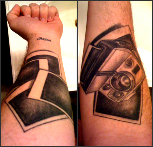 ode to the polaroid. Done at Forsaken Ink