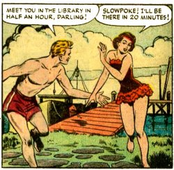 comicallyvintage:  Dressing for the library 1950s style.