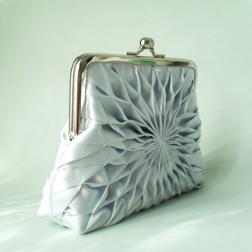 Silver Blue Clutch - HeidiCreations