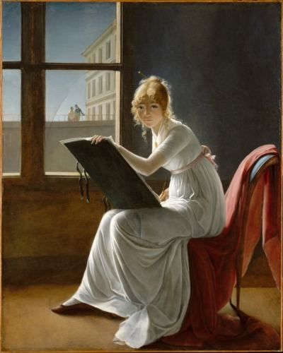 Marie-Denise Villers ( 1774–1821, French painter) - Young Woman Drawing (Jeune femme dessinant), 1801 Oil on canvas The Metropolitan Museum of Art, New York