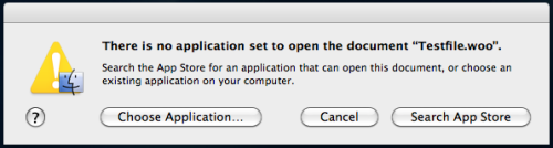 OSX - Excellent integration of the MacApp Store into the OS for unknown file types.  /via Pete Wilkinson
