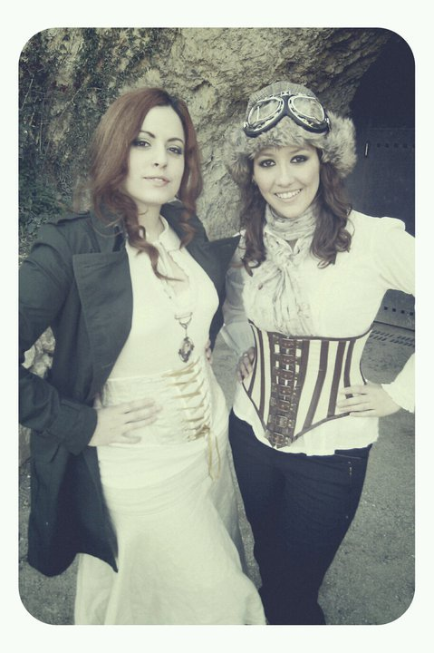Desiree Delgado and me at the steampunk picnic, today :)