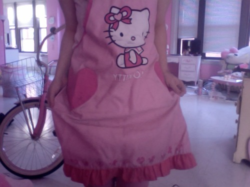 aforementioned apron it's all skeezy now cuz i wore it as my smock in my printmaking classes in high school ; ;