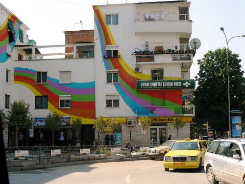 Rainbow Apartment in Tirana, Albania. I want to live here <3