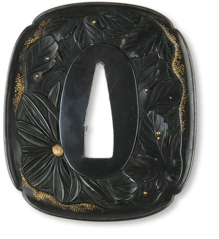 Decorated sword guard, or Tsuba