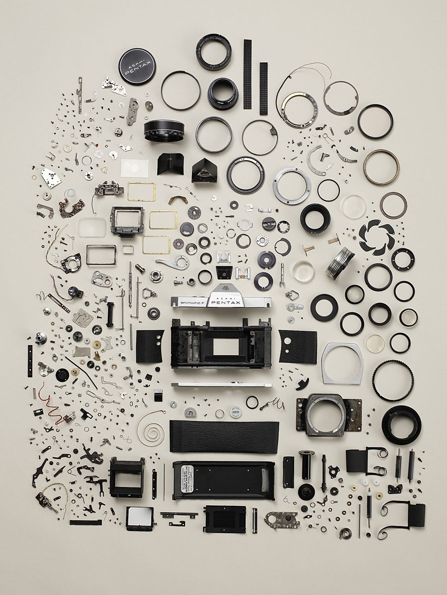 Todd McLellan - Disassembled Pentax Camera