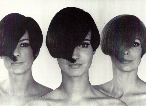 missdandy:  1960s haircuts by Vidal Sassoon  Also (75% sure) on the show tomorrow: hairdresser Vidal Sassoon. Maybe he'll be able to answer why I had a curly mullet in 7th grade.
