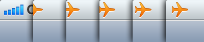 iOS - When you enable airplane mode on iPhone, a little airplane icon flies from the edge of the screen. /via marianmraz