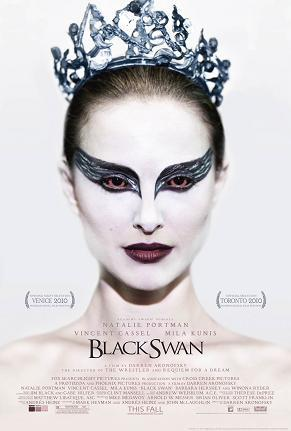 Black Swan (2010) As a white male, I hate dancing.  As an American, I hate Russia.  So Black Swan isn't allowed.  Anyway, here's my take.  Pay attention, it gets a little tricky: Lily (Mila Kunis); Nina (Natalie Portman) Unexpectedly, Nina gets the role, to the dismay of other dancers.  Nina starts to crack and go crazy, complete with hallucinations - she begins to think that Lily is determined to take the role from her. One night Lily shows up to Nina's house.  They go out.  Nina falls for Lily, they do it.  Next morning Nina wakes up alone - goes to dance class and yells at Lily for not waking her up.  Lily LOL's in Nina's face - THEY DIDN'T EFF!  Nina was hallucinating. Next night, Nina goes crazy and imagines she is turning into a swan.  Flash forward to the night of the performance, Nina shows up and gets dressed.  First act goes awful.  Nina goes to dressing room, sees Lily.  Fights Lily, kills Lily, hides body.  Goes out and gives a standing O performance, goes back to her room.  KNOCK KNOCK.  Who's There?  OMFG!!1 It's LILY!  Turns out Nina was hallucinating again and actually stabbed and may have killed herself.  But her performance?  AMAZING.