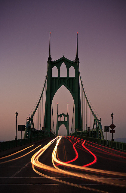 St Johns Bridge II (by Cameron Booth)