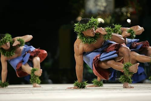 danceartmusic:  Male Hula Dancers via www.hawaiimagazine.com Last week I visited Maui for 3 days and was blown away by the art in nature - i enjoyed my first sighting of breached whales, my first experience of snorkelling, and stunning coastal drives. Next time I'll try and catch more of the art in galleries or performance, especially of traditional hula, which has always intrigued me. I thought I'd post this picture of male dancers, instead of the obvious often sexualised image of female hula dancers..