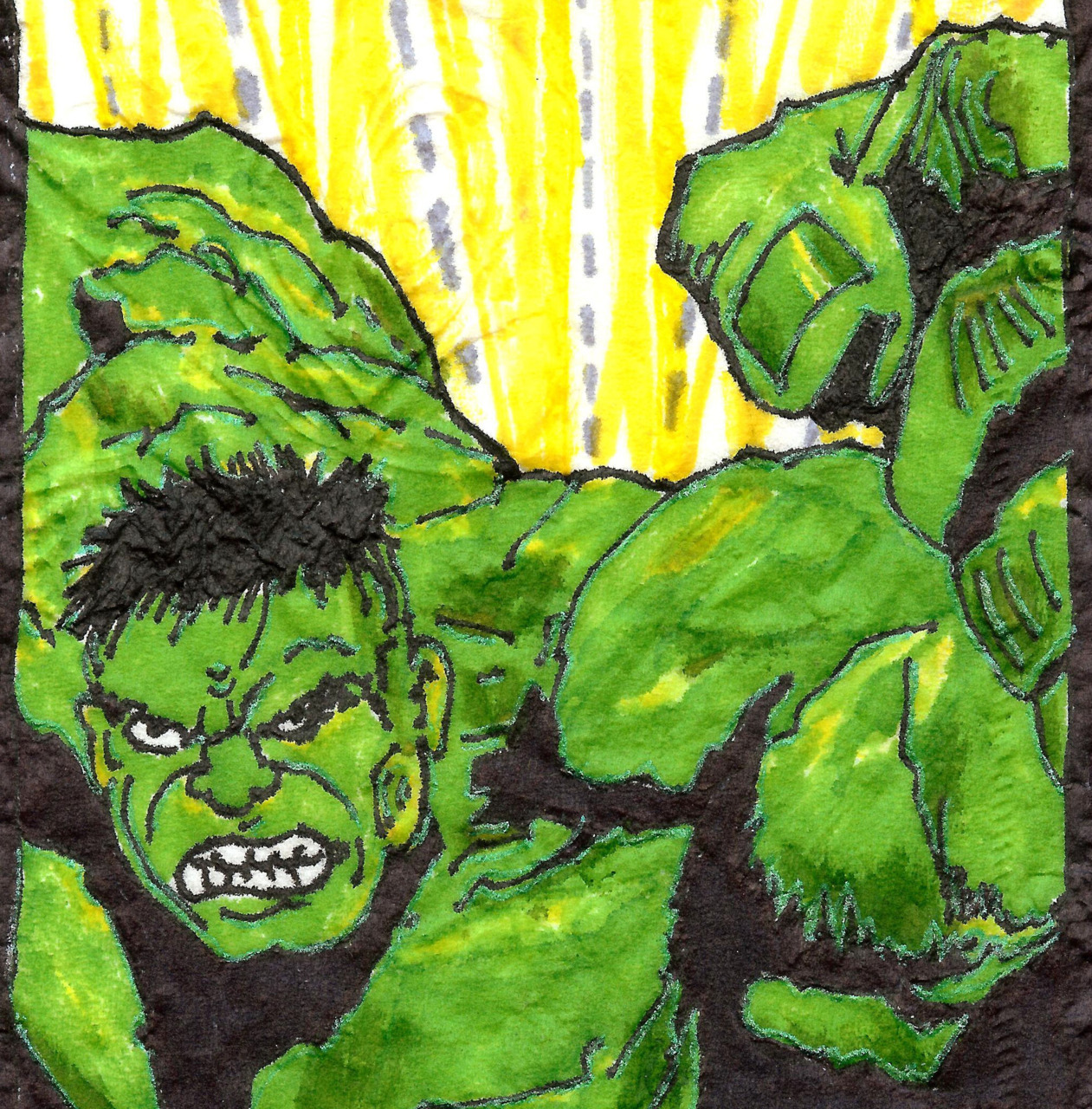 Hulky blow-up detail.