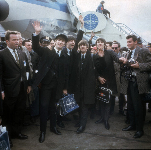 The British Invasion: The Beatles arrive in New York on Feb. 7, 1964 for their first U.S. appearance.