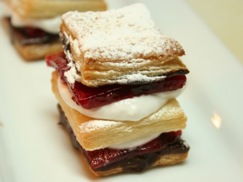 Chocolate and Strawberry Napoleons from the outstanding Vegan Dad. Oh yes, there is a recipe, too. If my own father is reading this, to you, sir, I say: WTF WHERE ARE MY G.D. CHOCOLATE AND STRAWBERRY NAPOLEONS I KNEW YOU AND MOM NEVER REALLY LOVED ME!!