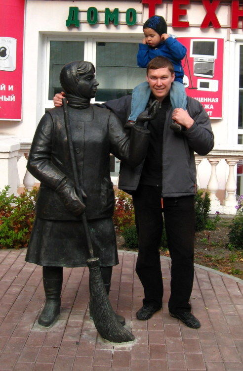 In Belarus, they have statues of street sweepers. I must say though, it was one of the cleanest places I've ever been to. No litter on the streets and sidewalks were swept several times a day.