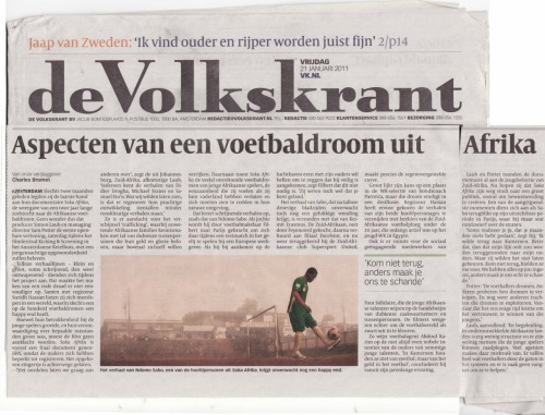 This article about Soka Afrika appeared in de Volkskrant, a leading Dutch newspaper.  English translation to follow…