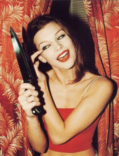 suicideblonde:  Milla Jovovich photographed by Chris Floyd, 1994