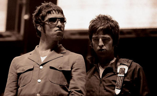 Liam & Noel Gallagher by Andy Willsher
