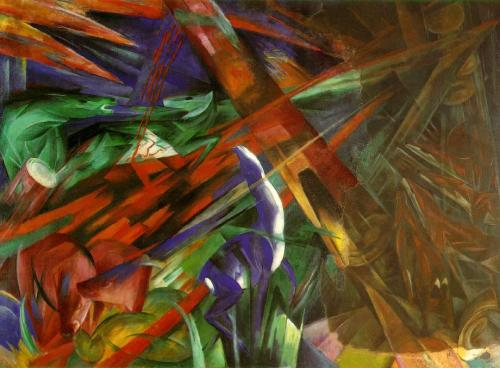 thesuperficialsigh:  Franz Marc, The Fate of the Animals.