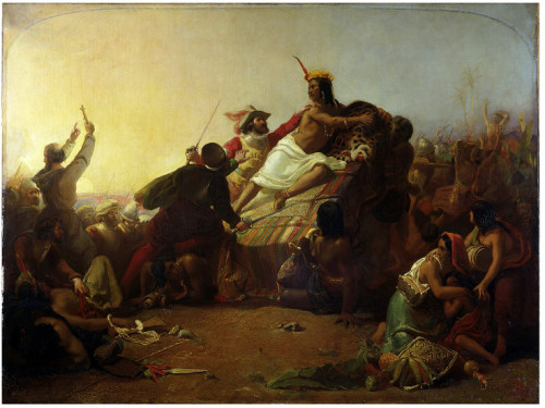 John Everett Millais - Pizarro seizing the Inca of Peru