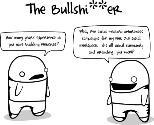 "My favorite of The Oatmeal's ""10 Types of Crappy Interviewees""…"