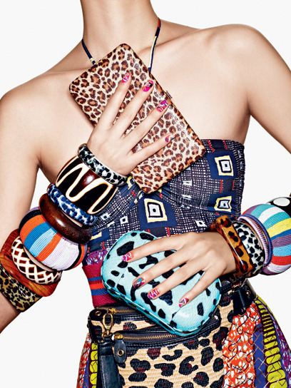 Shake it up, baby! Play dress-up with these crazy-cool accessories and over-the-top nails. Read all about spring's top five accessory and nail art trends, plus shop the tools to create an awesome at-home manicure yourself. Photographed by Richard Burbridge