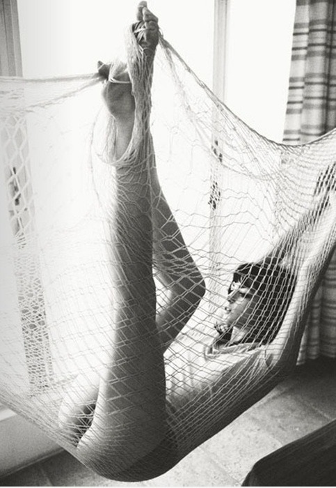 women are beautiful caught in an acme net