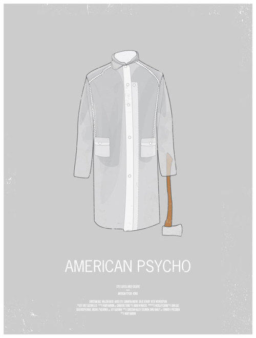 Dress The Part: American Psycho great movie poster design