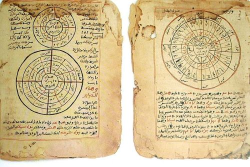 diasporicroots: diasporicroots:   The Timbuktu Manuscripts showing both mathematics and astronomy.The Timbuktu Manuscripts - or Mali Manuscripts - some of which date back to the 13th century, are Arabic and African texts that hark back to the city's glorious past, when African Muslim merchants would trade gold from West Africa to Europe and the Middle East in return for salt and other goods.Ancient African scholarship.  The manuscripts cover diverse subjects: mathematics, chemistry, physics, optics, astronomy, medicine, history, geography, Islamic sciences and traditions of the Prophet Muhammad (peace be upon him), government legislation and treaties, jurisprudence and much more. Before the European Renaissance, Timbuktu flourished as the greatest academic and commercial center in Africa. Great empires such as Ghana, Mali, and Songhai were proofs of the talents, creativity and ingenuity of the people. The University of Timbuktu produced both Black African scholars and leaders of the highest rank, character and nobility. Importance These manuscripts represent a turning point in the history of Africa and its people. The translation and publication will restore self-respect, pride, honor and dignity to the people of Africa and those descended from Africa; it will also obliterate  stereotypical images of primitive savages as true representation of Africa and its civilization. click here for more