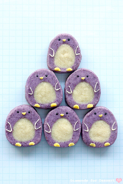 Purple penguin cookies!