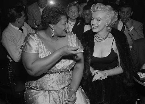 "Marilyn Monroe was a big supporter of the Civil Rights Movement. Marilyn was a big Ella Fitzgerald fan, however, the Mocambo nightclub, the most popular nightclub of that time, refused to let Ella perform there because she was black. Marilyn told the owners that if they would let Ella perform, she would be there in the front row every time she was onstage. The club booked her and Marilyn didn't miss one performance.According to the great Ella Fitzgerald:""I owe Marilyn Monroe a real debt…it was because of her that I played the Mocambo, a very popular nightclub in the '50s. She personally called the owner of the club, and told him she wanted me booked immediately, and if he would do it, she would take a front table every night. She told him - and it was true, due to Marilyn's superstar status - that the press would go wild. The owner said yes, and Marilyn was there, front table, every night. The press went overboard. After that, I never had to play a small jazz club again. She was an unusual woman - a little ahead of her times. And she didn't know it."""