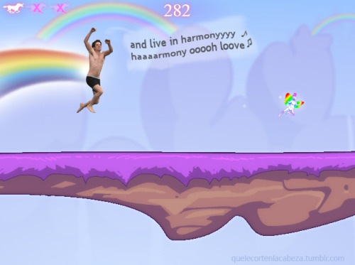 Screencap of Jumping Robot Unicorn Attack.  ——-  You can play the real game here.