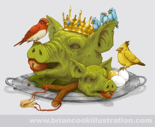 Furious Fowl - by Brian Cook (Blog | Twitter | Facebook)  Up for voting on Threadless.  Also check out his awesome Twitter-inspired T-Shirt design. (via Super Punch)