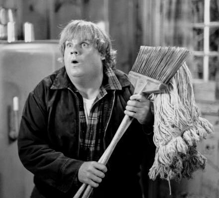 Chris Farley, may he rest in peace, is a lot of things. Attractive is not one of them. He is however, huge, sweaty, and coked up. But he's Chris Farley! He's so lovable! Just not in a sexual way, right? I'm pretty sure that's what I'm supposed to think, yet somehow I can't help but fantasize about what would happen if I were alone with Chris Farley….in a van down by the river. So romantic.