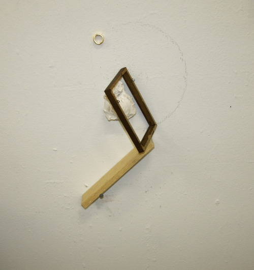 orbit.  plaster, frame, wood, metal.