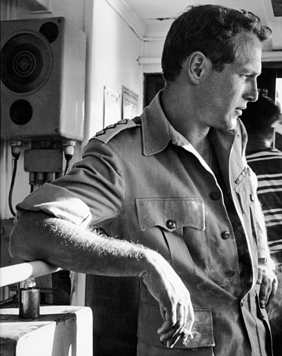 Paul Newman while visiting the Israeli countryside and the ruins of Masada National Park, Israel, 1959. Photo by Leo Fuchs.