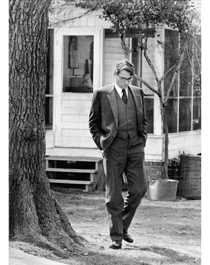 Gregory Peck on the set of To Kill a Mockingbird, 1961. Photo by Leo Fuchs.