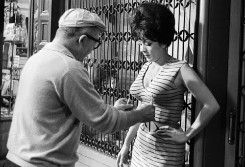 Actress Tura Satana and filmmaker Billy Wilder, a perfectionist, in 1962. Photo by Leo Fuchs.
