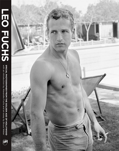Paul Newman cover photo to Leo Fuchs: Special Photographer from the Golden Age of Hollywood from powerHouse books, 2010.